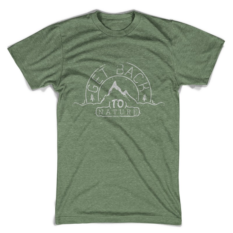 Get back to nature T shirt design