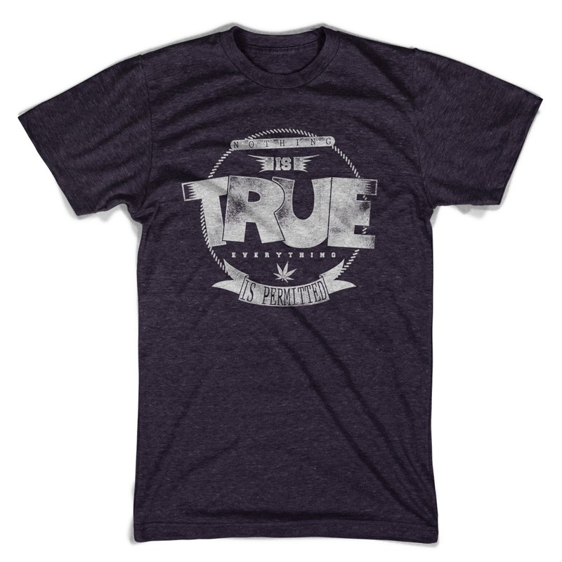 Nothing is true T-shirt template