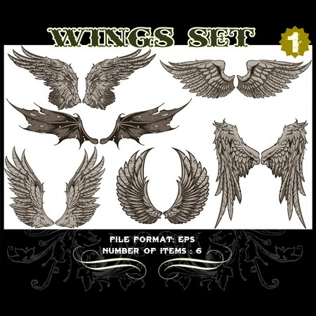 Wings Vector Set 1 Vector art