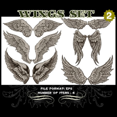 Wings Vector Set 2 Vector art