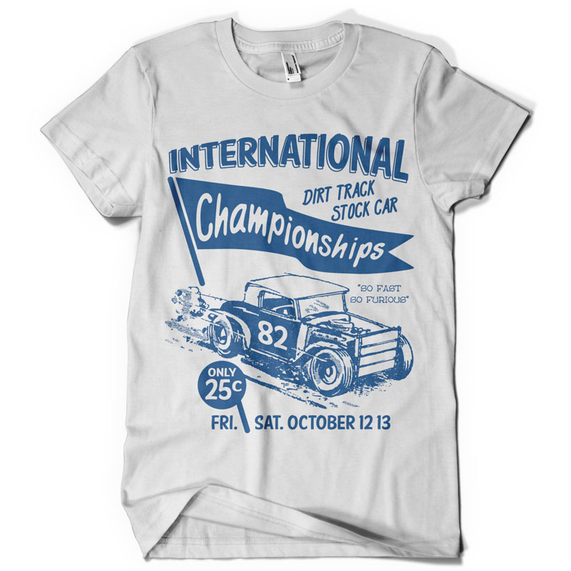Racing t shirt design ideas for Custom single t shirts