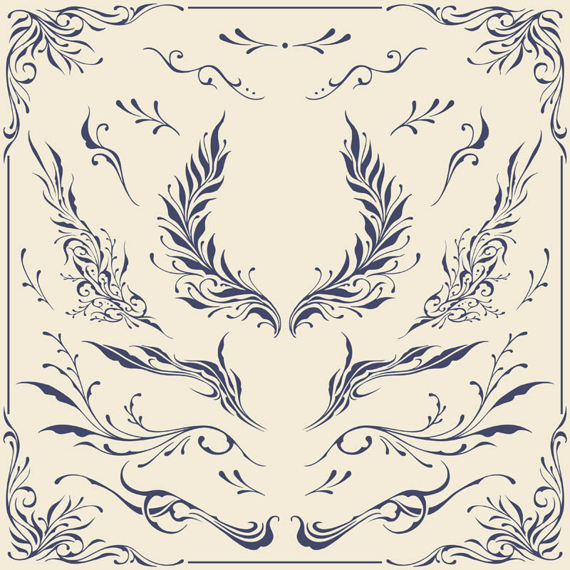 Floral frame and Border Ornaments Vector graphics