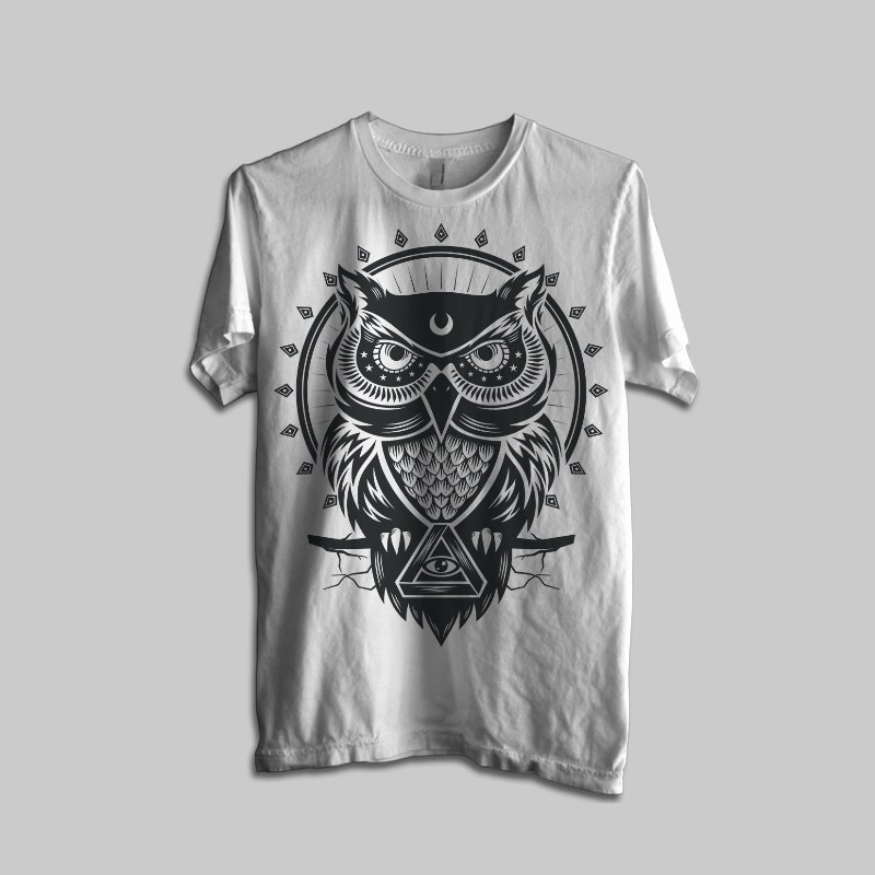 Owl t shirt t shirts design concept T shirt with owl design
