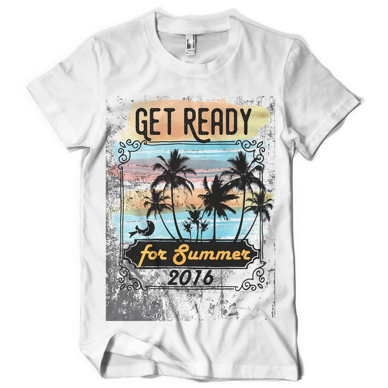 Get Ready for Summer T-shirt template | Tshirt-Factory