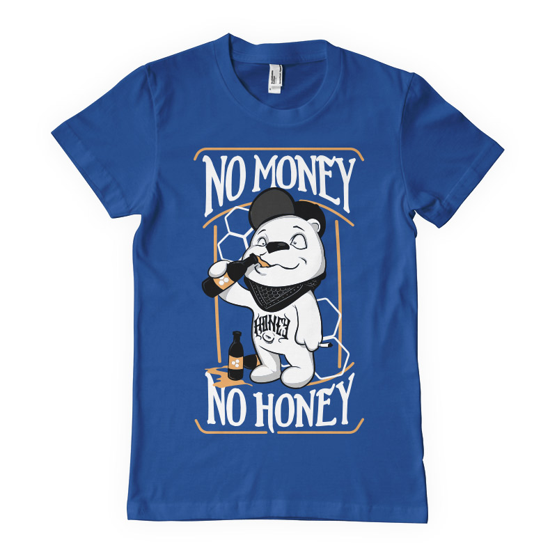 No money no honey T-shirt clip art
