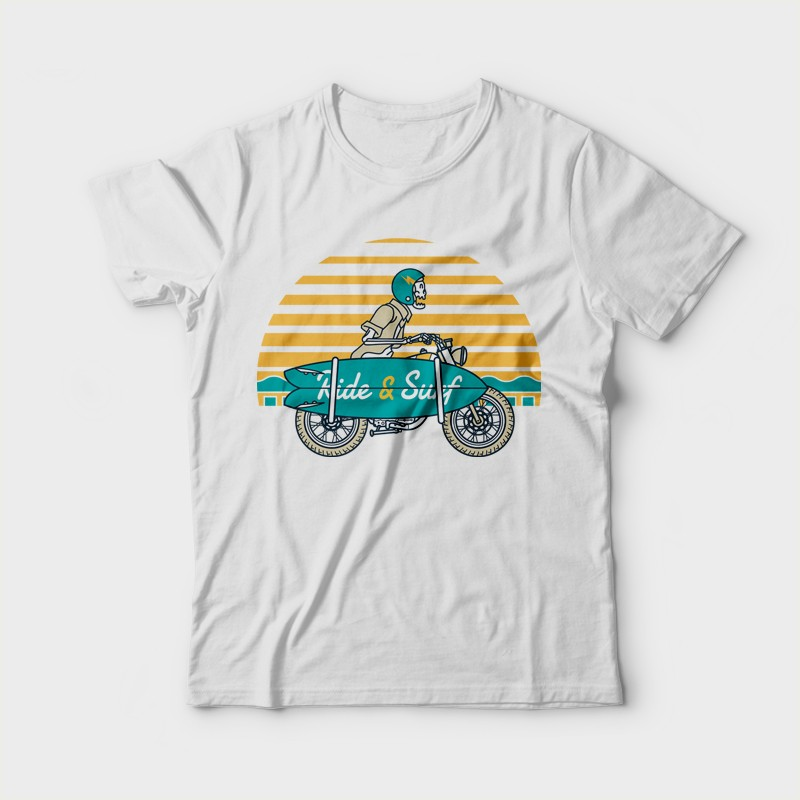 Ride and Surf Custom t-shirts