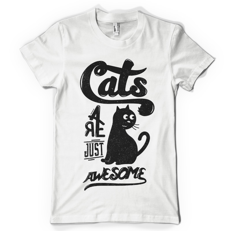 cat t shirt t shirts design concept