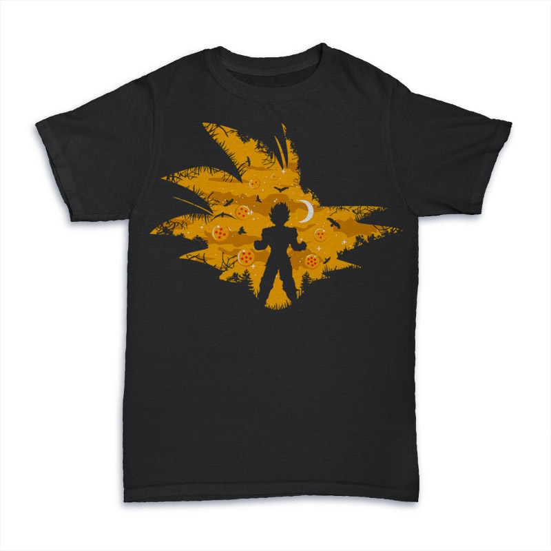 Super Saiyan T shirt design