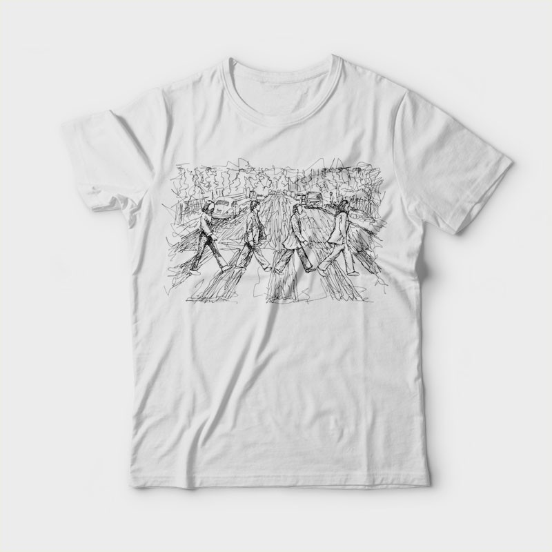 Abbey Scratch Tee shirts