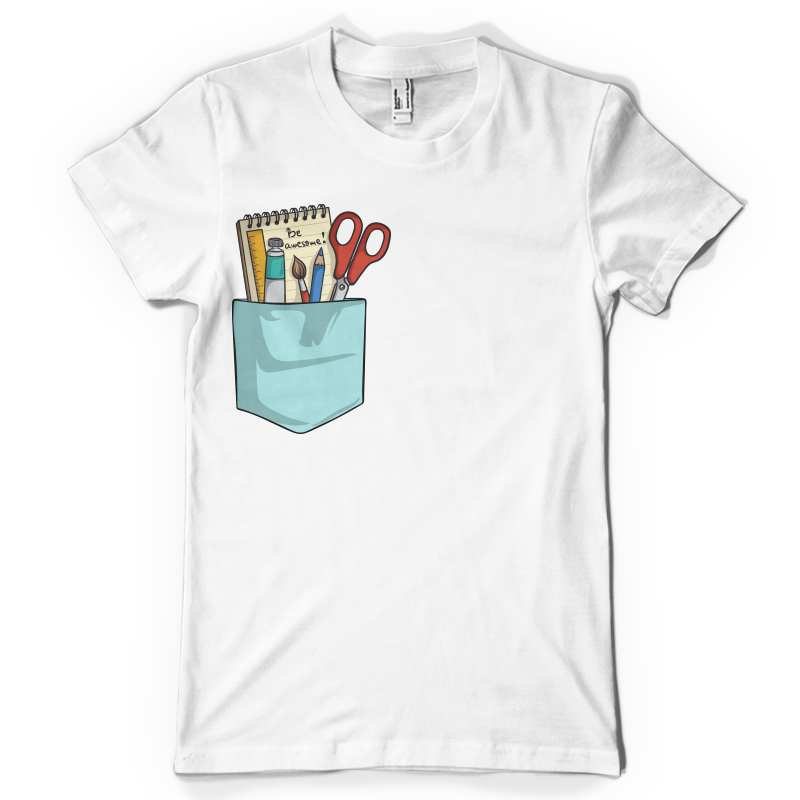Be awesome pocket T shirt design