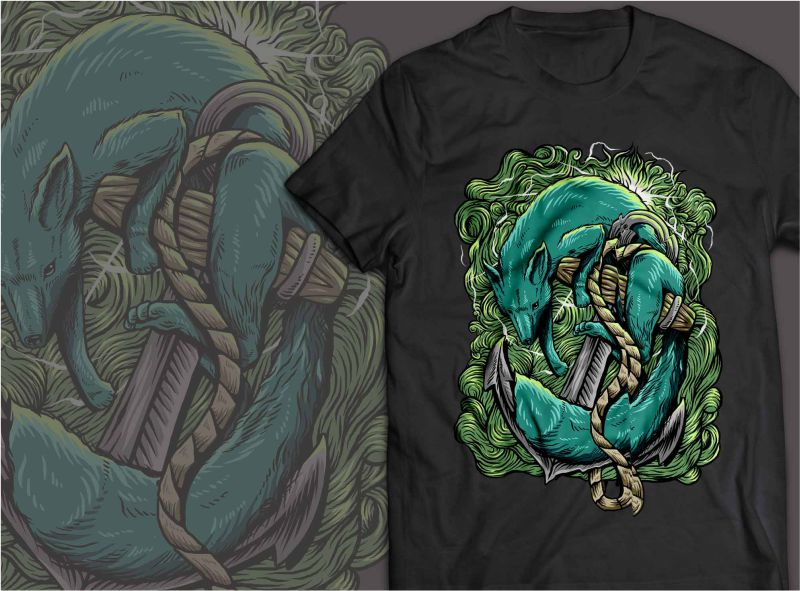 Fox Marine T shirt design