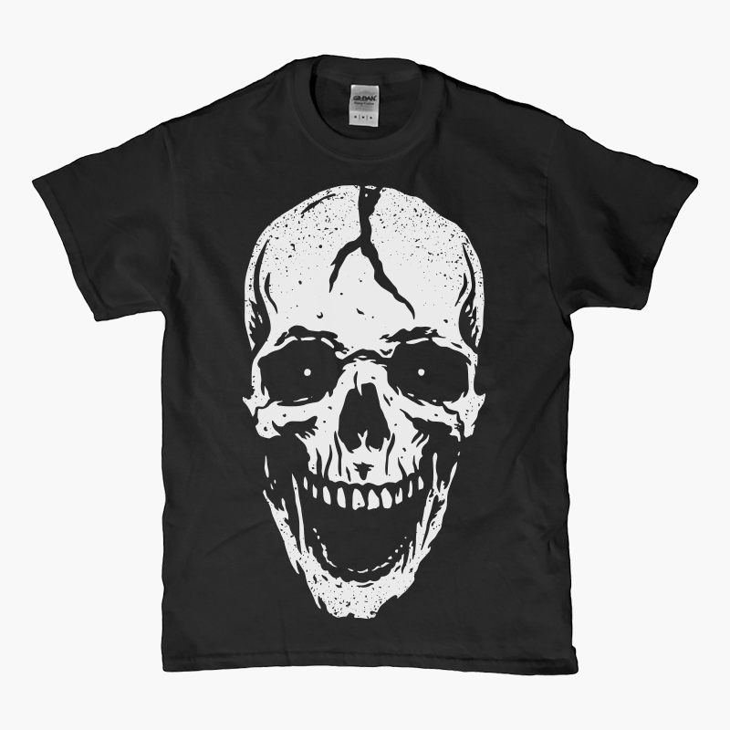 Skull Scream T-shirt clip art