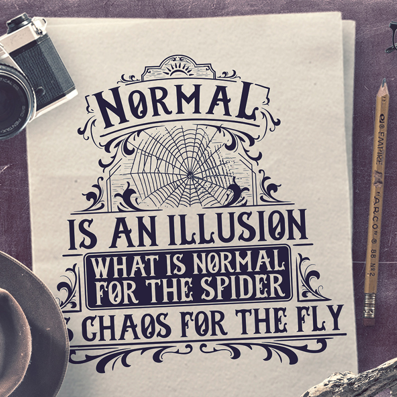 Normal is an illusion t shirt design tshirt factory normal is an illusion altavistaventures Choice Image