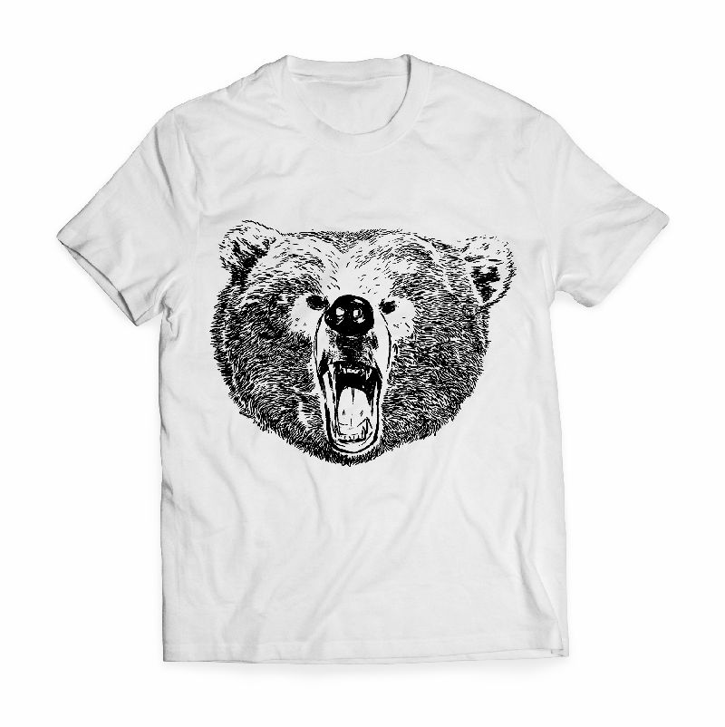 Grizzly bear t shirt the t shirt grizzly roar shirt source angry bear tee shirts tshirt factory publicscrutiny Image collections