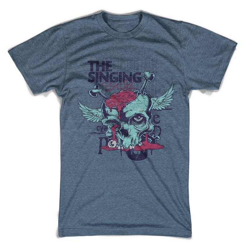 The singing T-shirt design