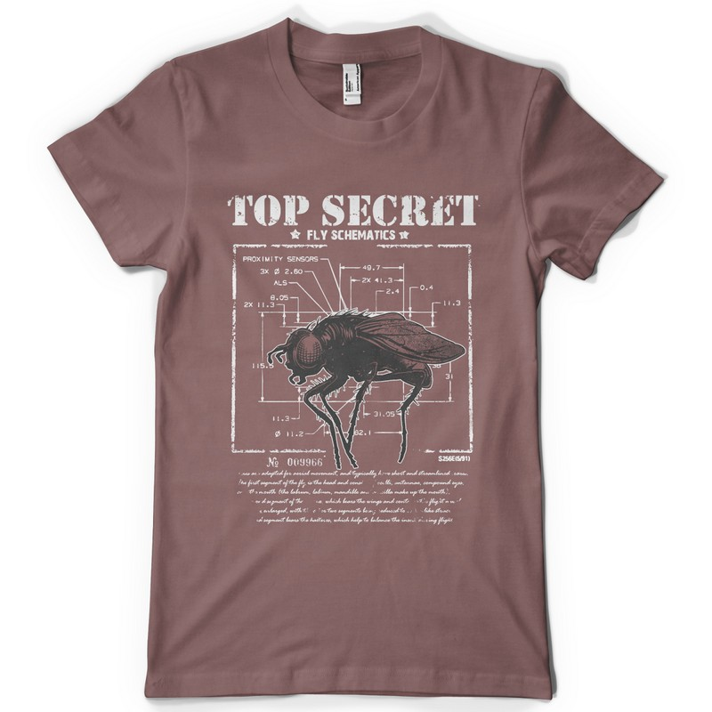 Top secret Tee shirt design