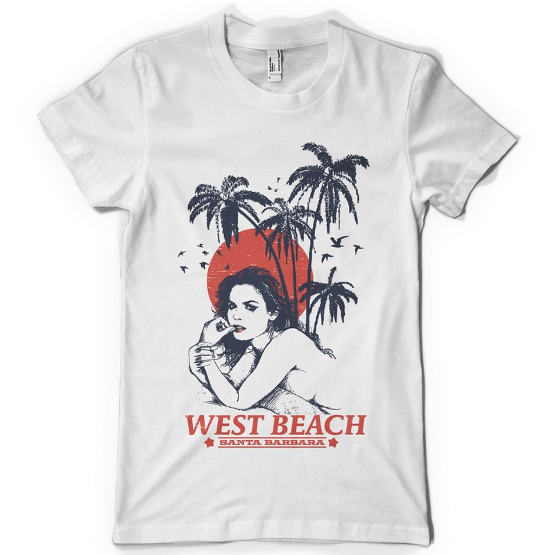 Célèbre West Beach Shirt design | Tshirt-Factory TB02