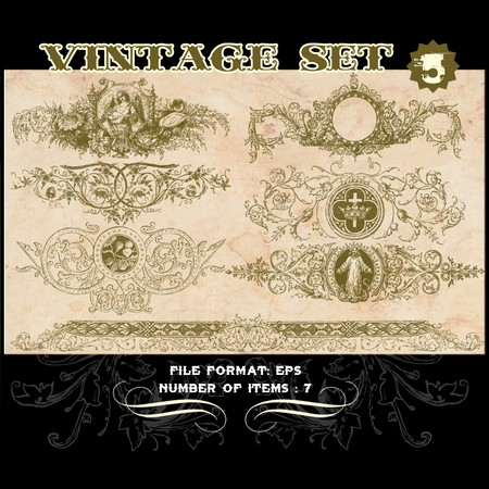 Vintage Vector Set 5 Vector art